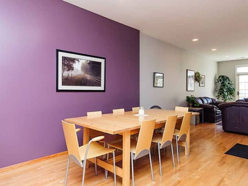 Bamboo Flooring with Purple Accent