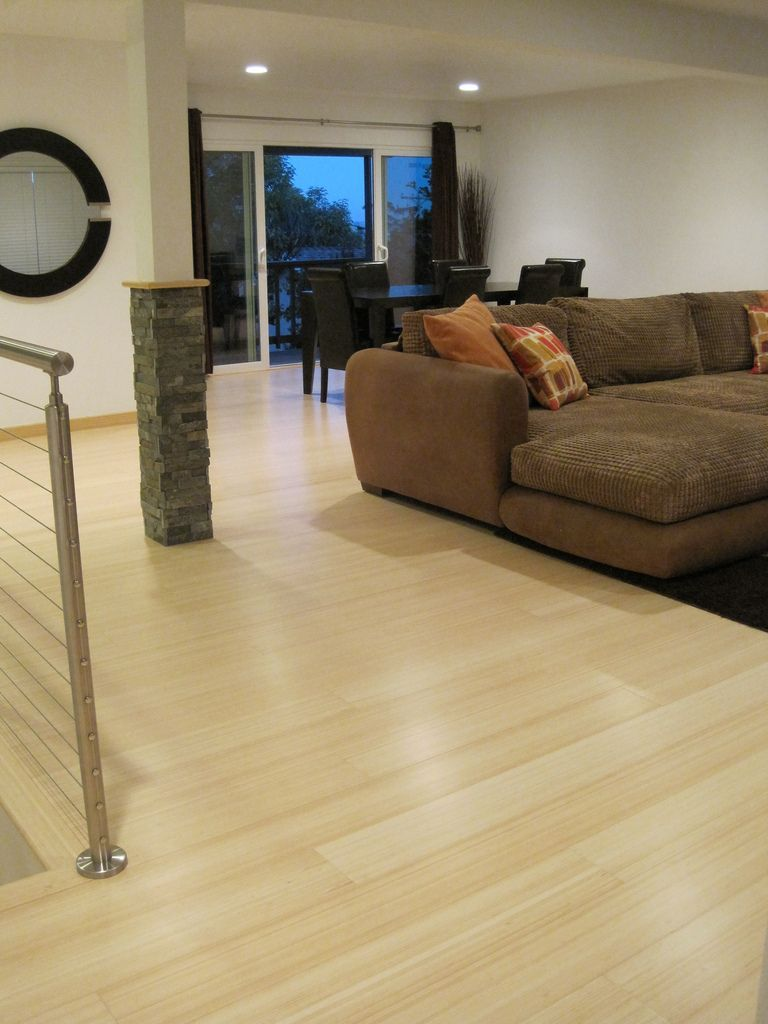 Natural Bamboo Flooring on Living Room